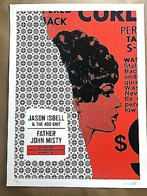 JASON ISBELL FATHER JOHN MISTY Milwaukee WI June 2019 SE SIGNED S/N POSTER PRINT