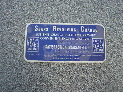 Vintage Sears Revolving Charge Plate Credit Card Hagerstown MD