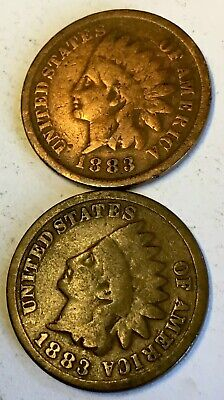 ☆Indian Head US Cent ☆ One 1 Copper Penny Coin ☆ From Estate Sale Lot 1859-1909☆