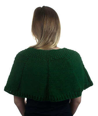 Hand-Knitted Shoulder Cape