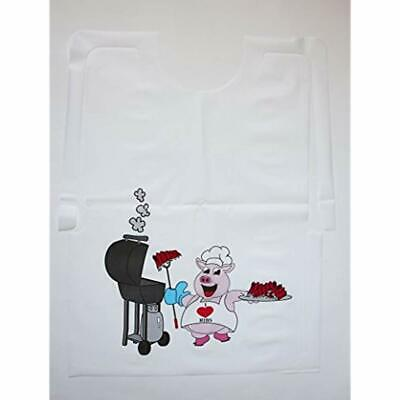 "100 Disposable Apparel Pack Plastic Pig Bibs Industrial "" Scientific"