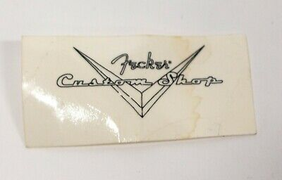 Fender Headstock Custom Shop Logo Decal - 2""