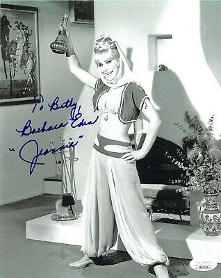 Barbara Eden signed I Dream of Jeannie 8x10 Photo & To Betty -JSA #EE62129