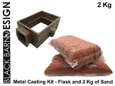 Sand Casting Kit 2 Kg & Flask for Metal Casting (Delft Style) Gold Silver Bronze