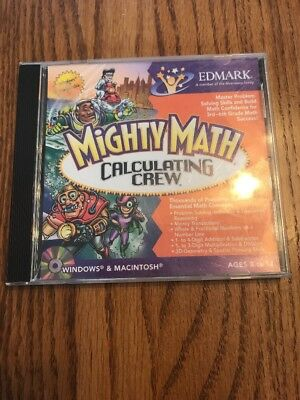 Mighty Math Calculating Crew Pc Mac Brand New Sealed Win10 8 7