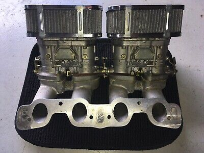 Weber 40  twin carburettors with Fiat 2ltr Twin Cam Manifold