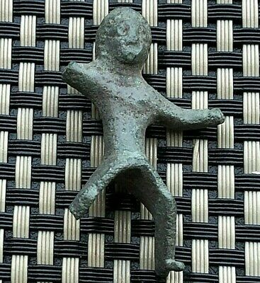 Ancient Roman Bronze Figure Of Thracian Rider Warrior Circa 100-200 Ad Very Rare
