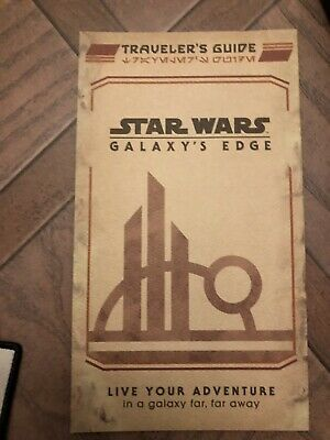 Disney Hollywood Studios Galaxy's Edge Opening Day Traveler's Guide Map IN HAND