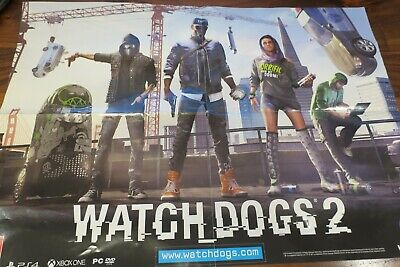 Poster Watch Dogs 2 for PS4