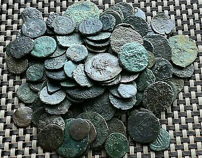 Lot Of 140 Ancient Roman / Greek / Byzantine Bronze Coins  Ae10 - Ae28