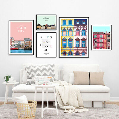 Venice Building House City Landscape Poster Simple Art Canvas Print Painting
