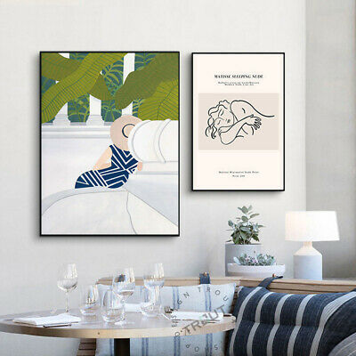 Abstract Art Painting Line Drawing Woman Simple Canvas Wall Poster Modern Decor