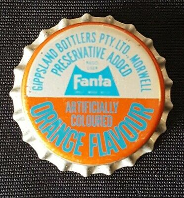 Fanta 1960,s Crown Seal Coca Cola Bottle Cap. Morwell, Vic unused mint new