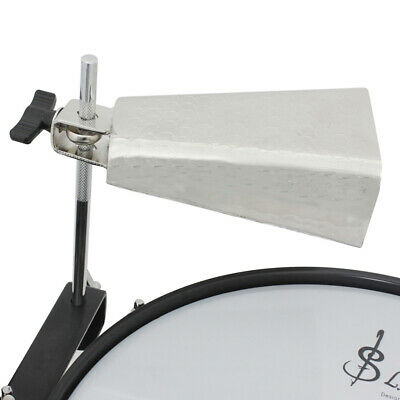 6 Inch Cowbell Silver Steel Alloy Cow bell Cheering Singing Bell Drum Set A2M1