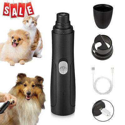 Black-Rechargeable Professional Pet Dog Cat Nail Clipper Grooming Tool Grinder