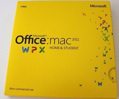 Microsoft Office 2011 Home & Student For Mac Computer with Product Key
