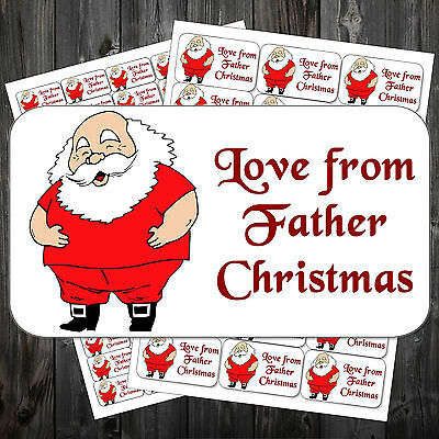 21 Christmas Gift Sticky Labels Stickers Tags Love From Father Christmas #acf