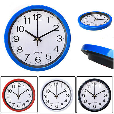 Silent Wall Clock Simplicity  Round Quartz Bell Battery Operated Wall Clock.