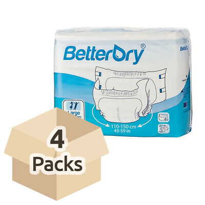 BetterDry - Large - Case - 4 Packs of 15