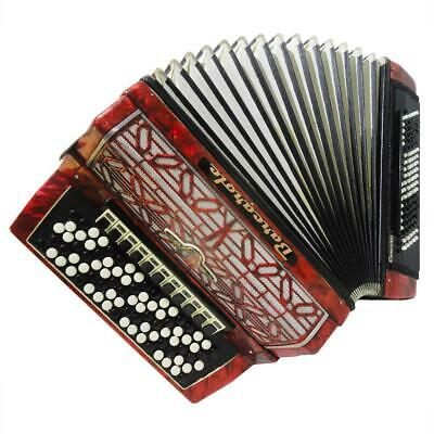 5 Row Barcarole Converter German Button Accordion: Free Bass & Stradella, 1106