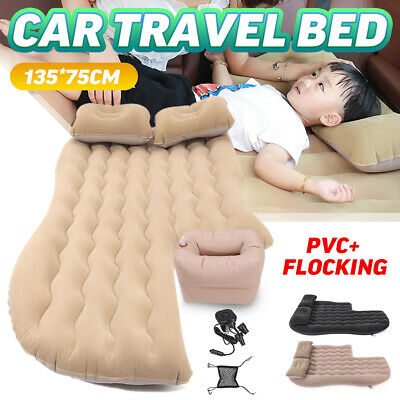 Inflatable Car Air Bed Mattress Back Rear Seat Rest w/2 Pillows Travel Camping