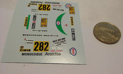 decals decalcomanie deco pour wm peugeot n282   1/43