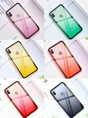 Shockproof Tough Glass Hybrid Case Cover For Apple iPhone XS Max XR 7 8 6S Plus