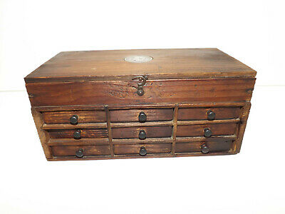 19th Cen French Scratch Built Box Inset With Napoleon III Coin 1854
