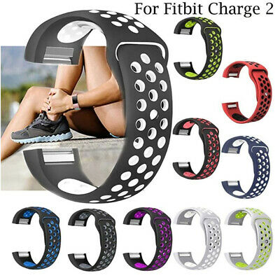 Soft Silicone Replacement Spare Sport Band Bracelet Strap for Fitbit Charge 2#