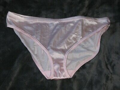 Pink Kmart Second Skin Liquid Satin Silky Shiny Wet Look Panties XL 8