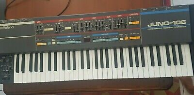 Roland Juno 106 Keyboard Synthesizer FULLY SERVICED. MINT.