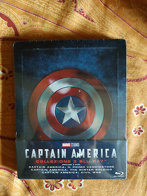Captain America Trilogia  Collezione 1-2-3 Steelbook Bluray Marvel  Italiano