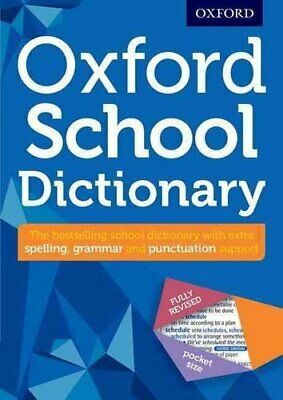 Oxford School Dictionary by Oxford Dictionaries 9780192747105 | Brand New