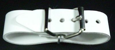 PVC Belt with Double Metal Buckle Nostalgic Stroller in White and Grey