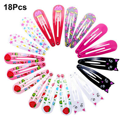 Hair Styling Snap Hair Clips Girls BB Hairpins Baby Hairgrip Cat Fruit Printed