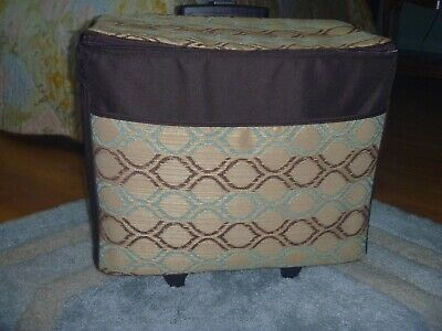 REDUCED Rolling Sewing Machine or Serger Tote Large Handle Pockets