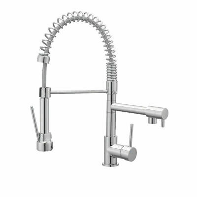 💖 COOKE & LEWIS® BILBROUGH Spring Neck Single Lever Kitchen Tap Chrome Effect