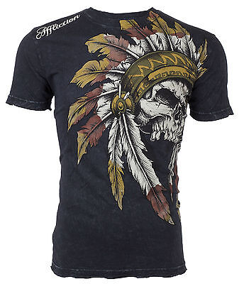 Affliction Short Sleeve T-Shirt Mens WINDTALKER Black S-3XL NWT