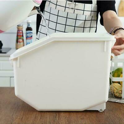 Plastic 8/10kg Rice Storage Box Household Food Flour Container Case Grain V2A2