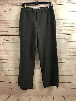 Old Navy Womens Size 10 Gray Pinstriped Essential Stretch At Waist Career Pants