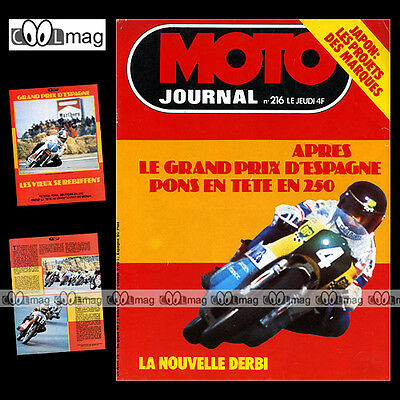 Moto Journal 216 Derbi 2002 200, Patrick Pons ★ Special Grand Prix ★ 1975