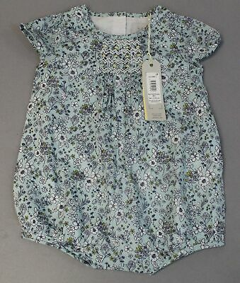 John Lewis & Partners Girl's Heirloom Ditsy Floral Romper ML3 Blue Size 3-6M NWT