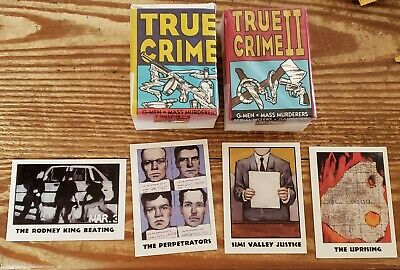 1992 True Crime Cards Sets & Chase Set Series #1(1-110)&#2(111- 220) W/Wrappers