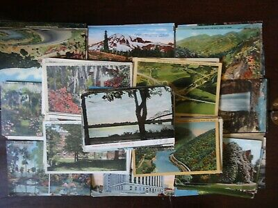 Lot 50 + Antique Postcards , Beautiful Scenery Of America** Unused & Posted