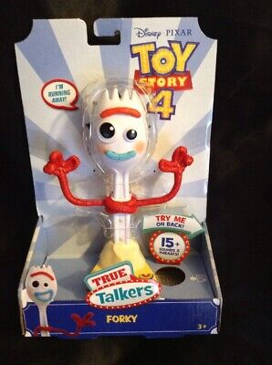 "Disney Pixar Toy Story 4 True Talkers Talking FORKY Figure 8"" 15+ Phrases NEW"