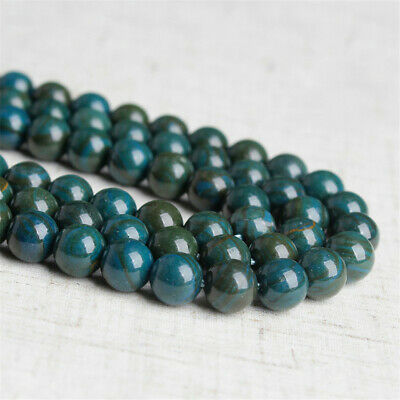 4-12mm Natural Round Blue Jade Loose Beads Diy Accessories Jewelry Making