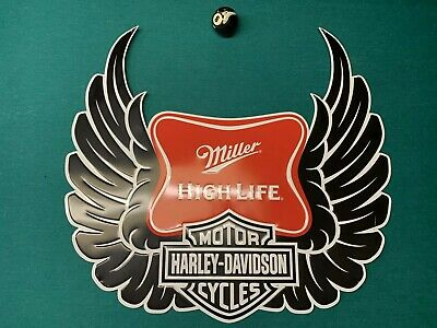 Miller High Life Harley Davidson Motorcycle Bike Beer Metal Tin Bar Sign