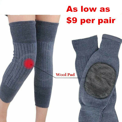 Knee Warmer Sleeves Kneecap Wool Leg Sleeve Winter Warm Thermal Leg Warmer 4R