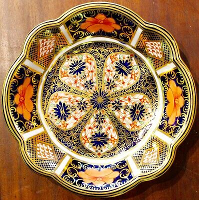 Royal Crown Derby Old Imari Porcelain Tart Plate Perfect
