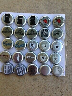 25 Silver Bottle Caps